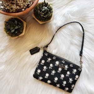 Coach Floral Wrist Wallet
